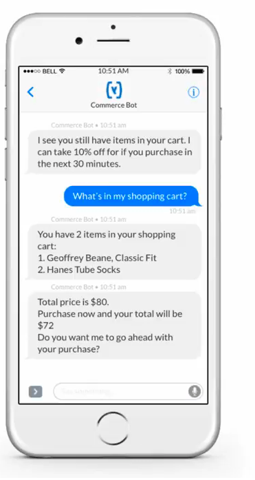 commerce bot chatbot