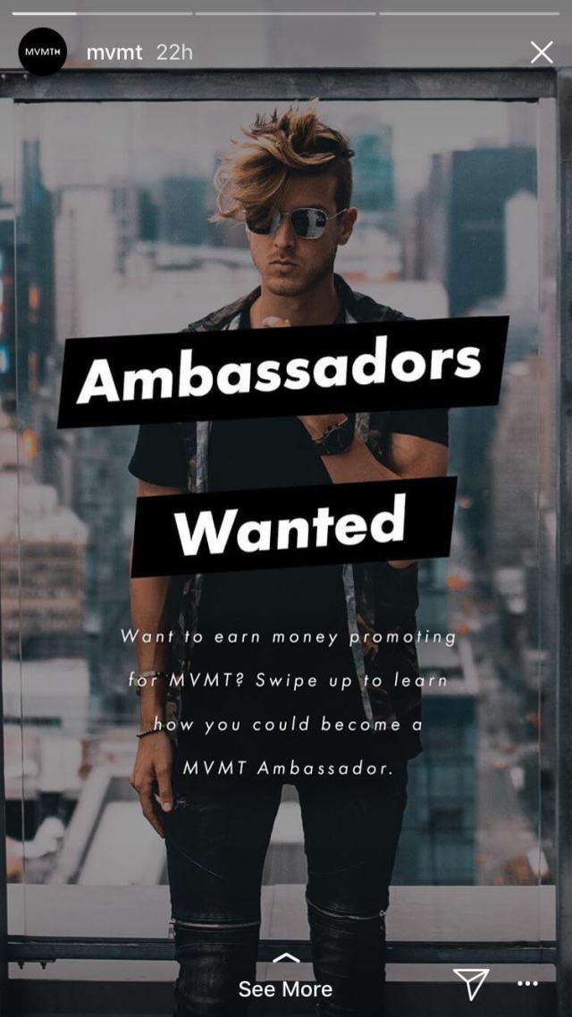 mvmt ambassadors wanted instagram