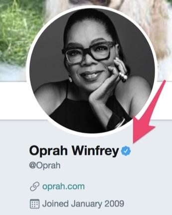 twitter Oprah verified