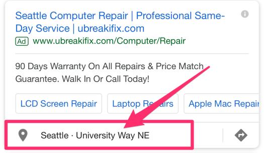 seattle computer repair adwords ad