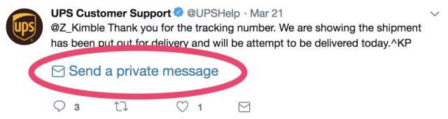 send a private message tweet