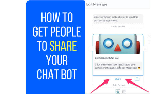 share button on chatbot