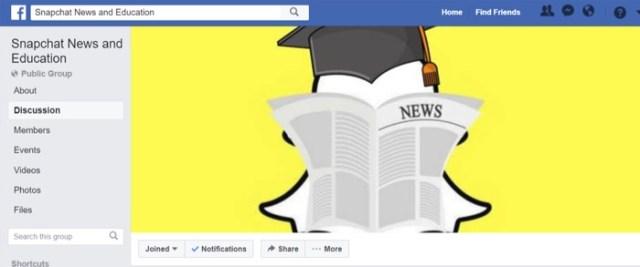 snapchat facebook page