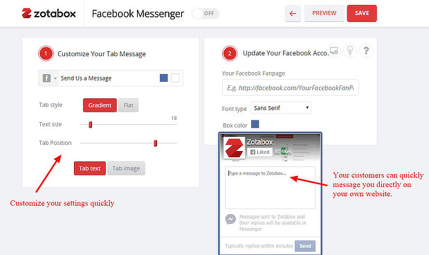 zotabox facebook messenger