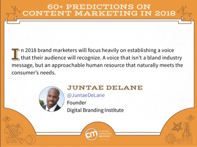 content marketing predictions for 2018