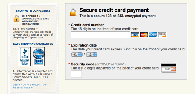 secure credit card payment