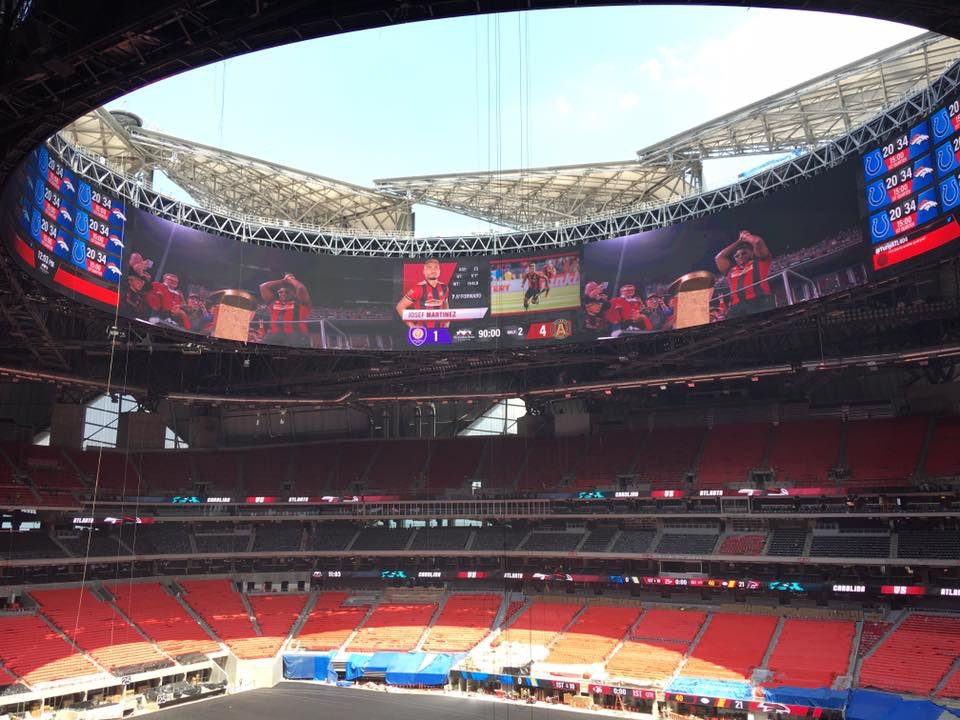 Atlanta Falcons' Mercedes-Benz Stadium LED screen - Kitcast Blog