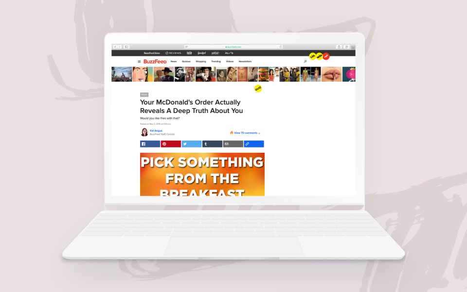 Buzzfeed screen 1 1 Tips of the Week: 7 Things Buzzfeed Teaches Us About Native Advertising - 1