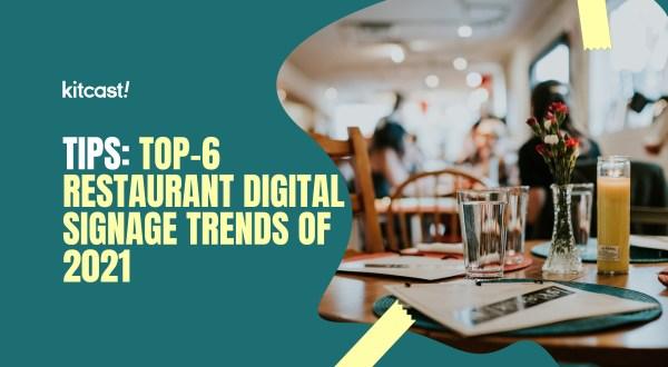 restaurant digital signage trends