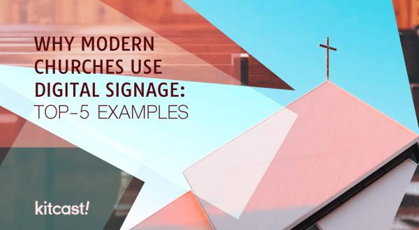 digital signage for churches