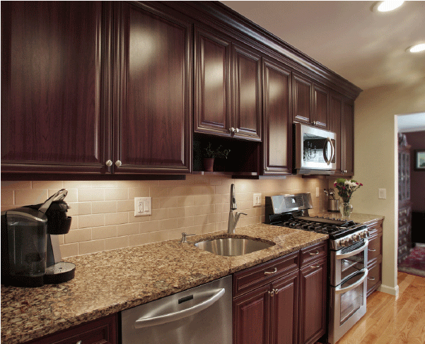 How to Pair Countertop Colors with Dark Cabinets on What Color Cabinets With Black Granite Countertops  id=21179