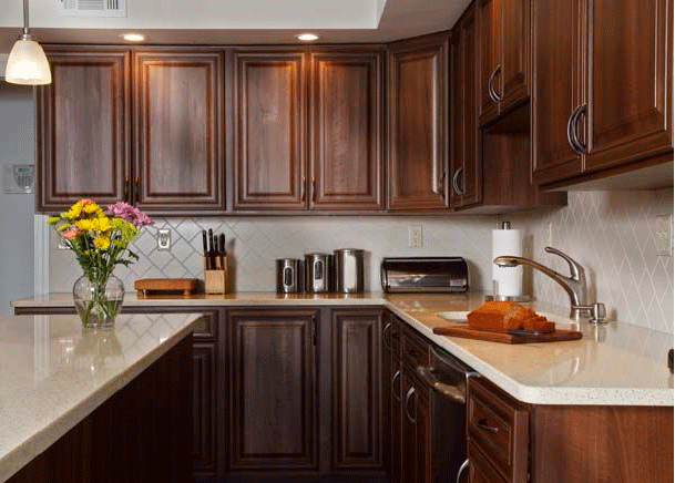 How to Pair Countertop Colors with Dark Cabinets on Backsplash Ideas For Dark Cabinets And Light Countertops  id=21419