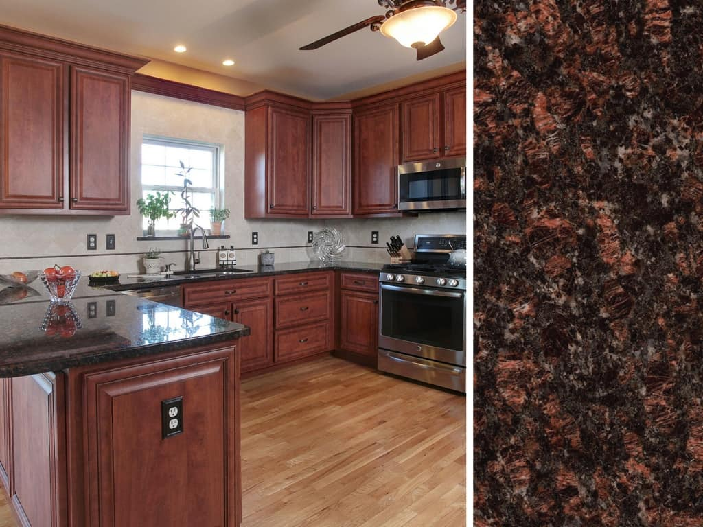 What Countertop Color Looks Best with Cherry Cabinets? on Backsplash Ideas For Black Granite Countertops And Cherry Cabinets  id=20811