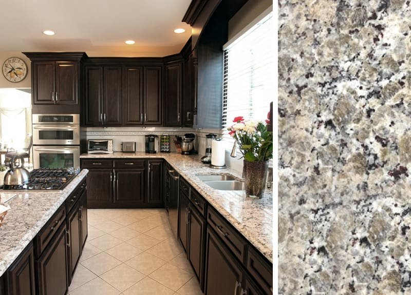 How to Pair Countertop Colors with Dark Cabinets on What Color Cabinets With Black Granite Countertops  id=80816