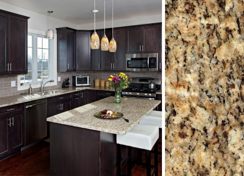 How to Pair Countertop Colors with Dark Cabinets on What Color Cabinets With Black Granite Countertops  id=85969