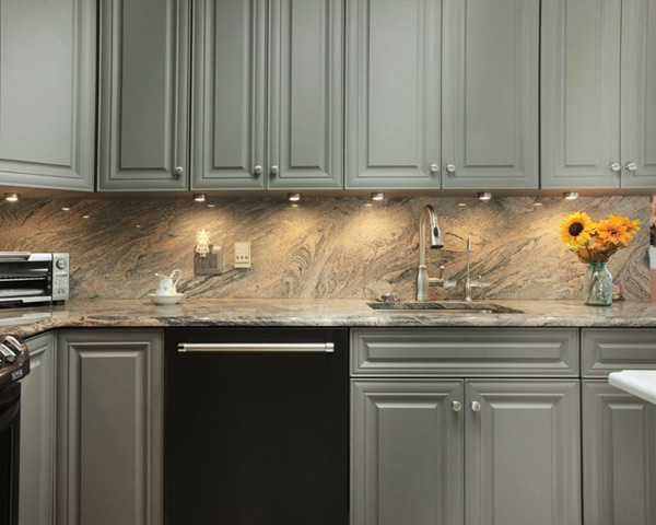 Should Countertops & Backsplashes Be Made from the Same ... on Granite Countertops With Backsplash  id=13735