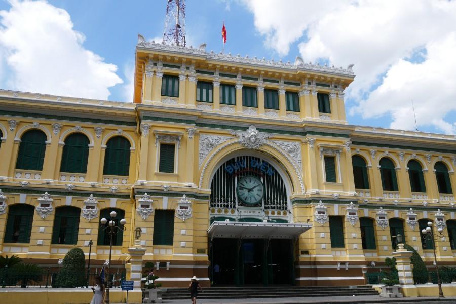 越南胡志明市第一郡景點-中央郵局/西貢郵局