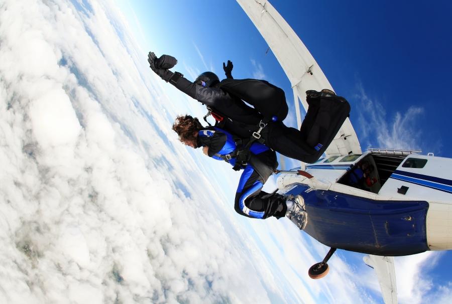 關島體驗高空跳傘