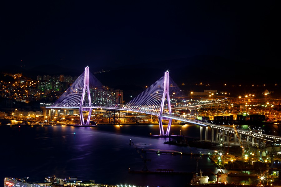Korea Busan Busan Harbour Bridge Ashutterstock 389391097