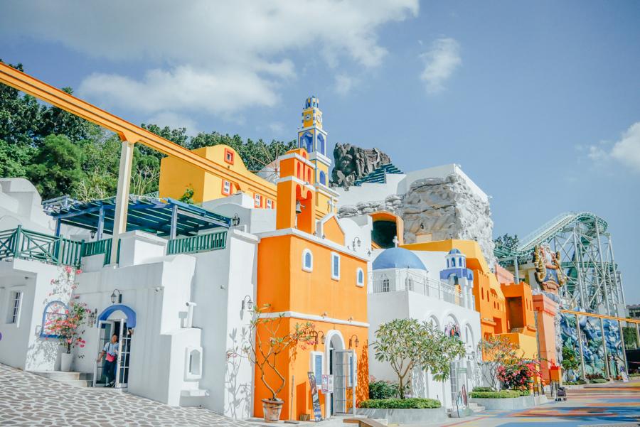 高雄義大遊樂世界 聖托里尼山城