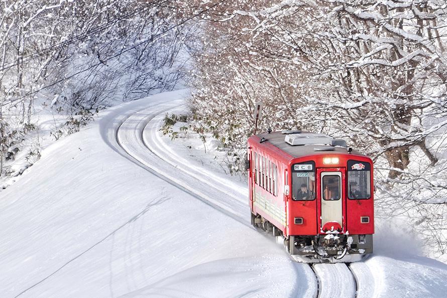 秋田三天兩夜自由行/秋田內陸縱貫鐵道/秋田景點/日本電車