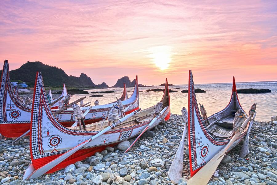 蘭嶼景點、拼板舟、東清灣