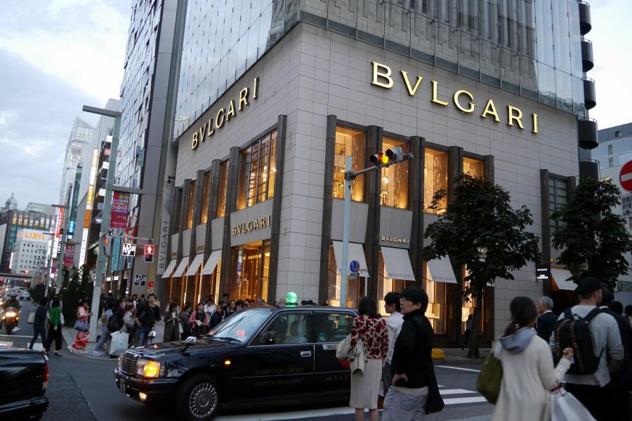 東京銀座咖啡廳 BVLGARI Café