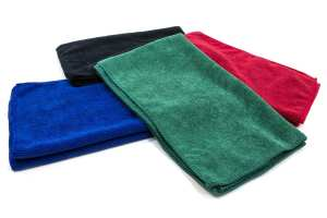 Stack of Colored Car Wash Towels