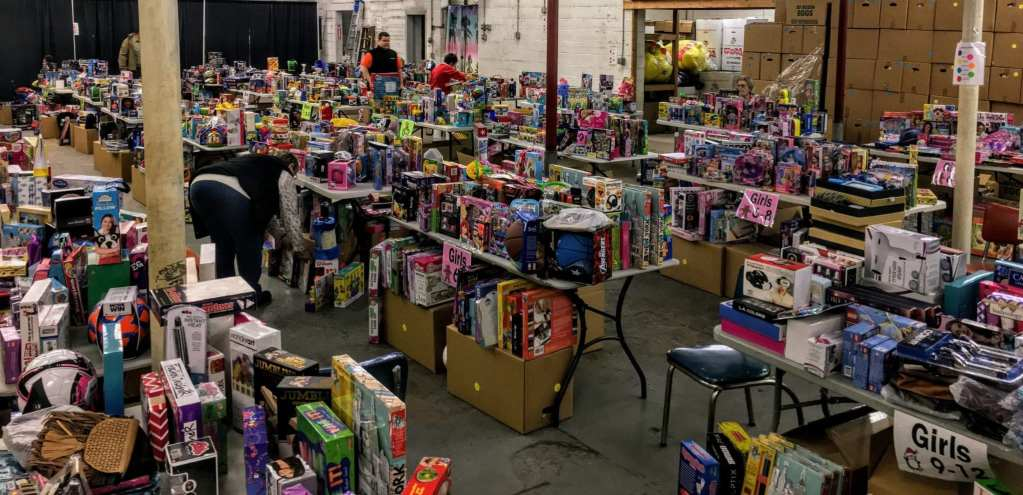 Room full of Toys for tots