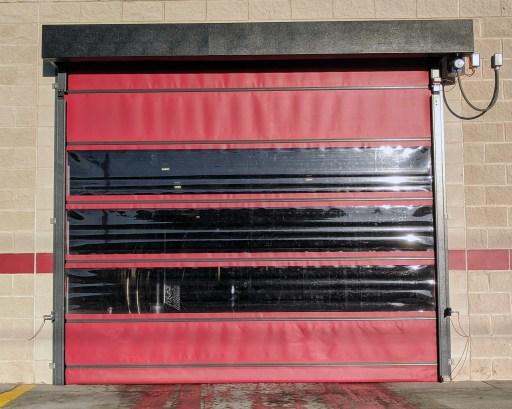 vinyl car wash door