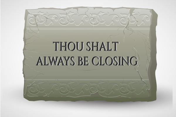 Sales Closing Commandments