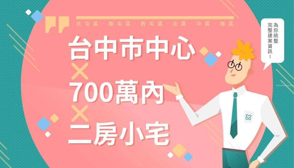 台中市中心 700萬內二房新建案整理 (2019第三季) 119