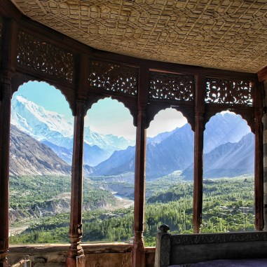 A stunning view of the Hunza Valley from Baltit Fort. Image from Wikimedia Commons