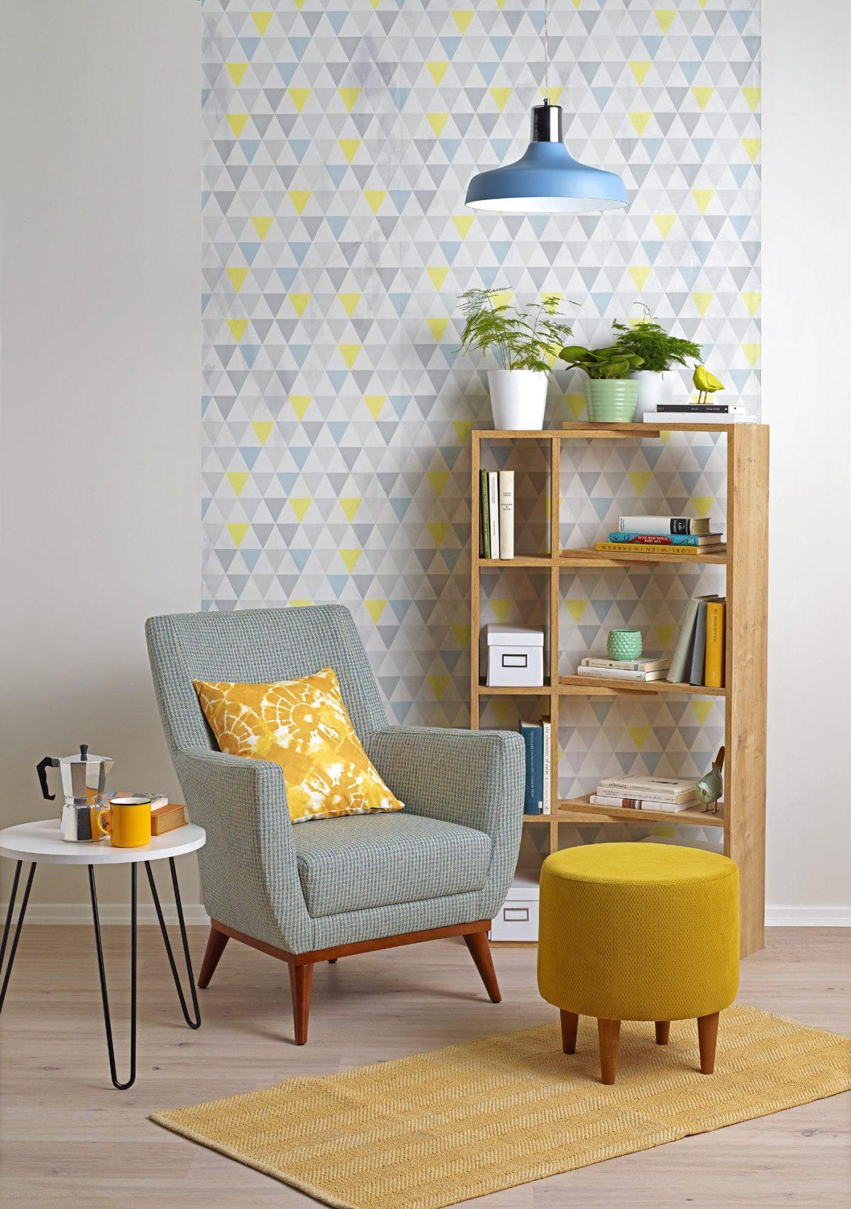 Oturma odaları için duvar kağıtları.