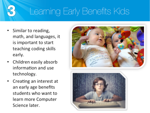 Learning early benefits students