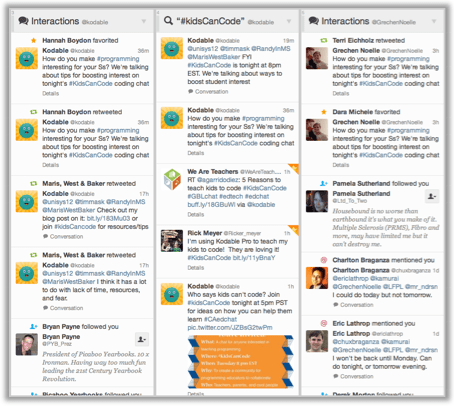 Set up a column for #KidsCanCode in your TweetDeck