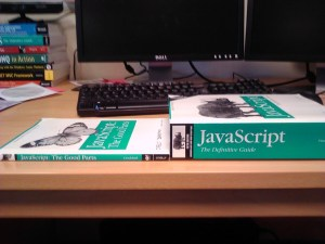 JavaScript the good parts is a great programming book I used
