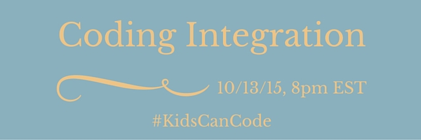 #KidsCanCode 10/13/15: Coding Integration