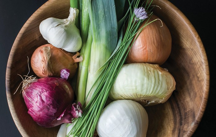 Chives, garlic and onions — common ingredients in human foods, these alliums can be toxic to dogs and especially cats.