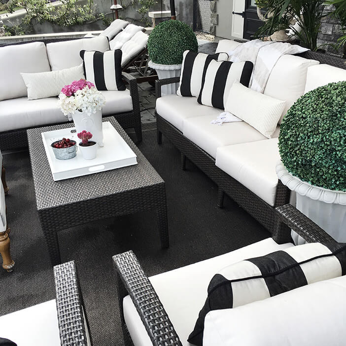 Working with Black Outdoor Furniture - KOVI on Black And White Backyard Decor  id=53873
