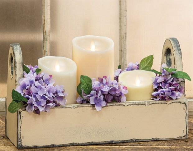 luminara flower gift box basket