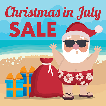 christmas in july sale santa