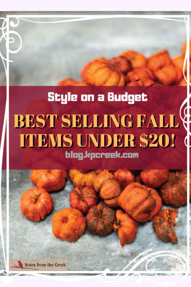 best selling fall items under 20