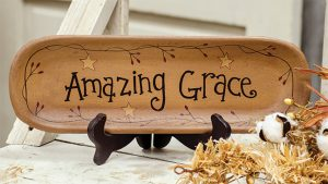 amazing grace tray plate