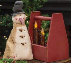 medium vintage snowman