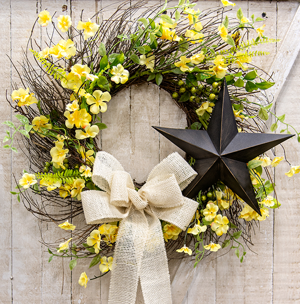 clover blossom wreath