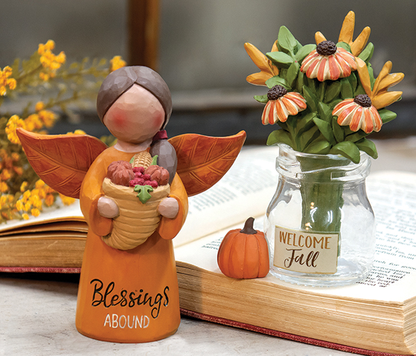fall resin figurines