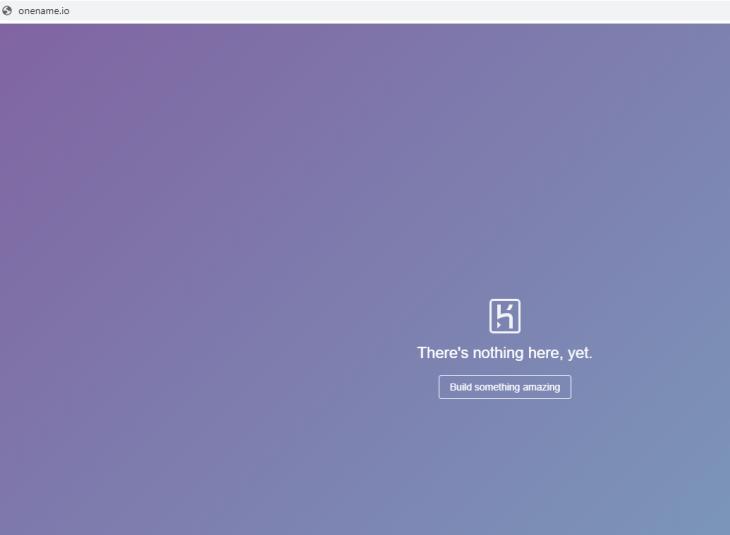 Onename Screenshot Crypto Domain Hijacking