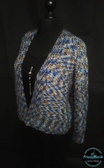 Oversize Bolero Jacke stricken wolle avalon