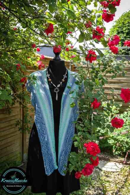 tuch stricken in blau nach anleitung fashion tahiti